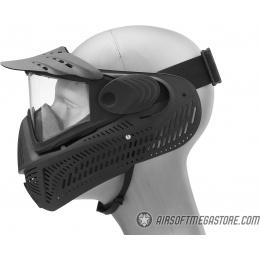 G-Force F2 Single Layer Full Face Mask - BLACK