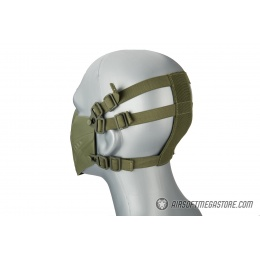 Lower Attack Face Protection - OD GREEN