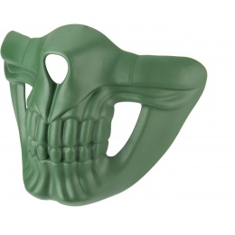 Lower Skull Mask Face Protection - GREEN