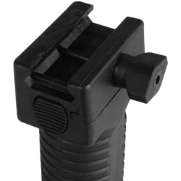 FDG Rapid Deploy Bipod Foregrip for Airsoft AEG Rifles - BLACK
