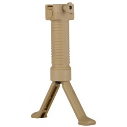 Rapid Deploy M249 Bipod Foregrip w/ 20mm Weaver Mount - TAN
