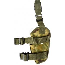 FDG Tactical Pistol Right Handed Drop Leg Holster - WOODLAND