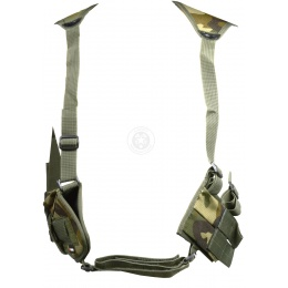 FDG ULTIMATE Tactical Police Shoulder Airsoft Gun Holster - WOODLAND
