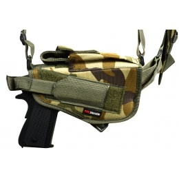 FDG ULTIMATE Tactical Police Shoulder Airsoft Gun Holster - WOODLAND