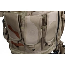 Tactical Airsoft Paintball Law Enforcement Vest - THREE COLOR DESERT