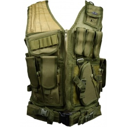 Tactical Assault Airsoft Law Enforcement Vest - OD GREEN