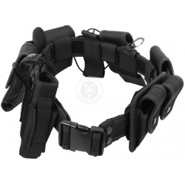 FDG Tactical Utility Belt with Holster - Modular Duty Gear - BLACK