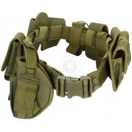 FDG Tactical Utility Belt with Holster - Modular Duty Gear - OD GREEN