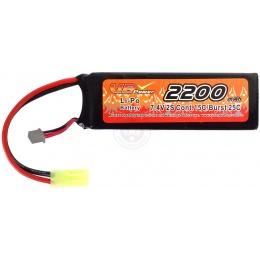 VB-Power Airsoft 7.4V 2200 mAh 15C Lithium Polymer LIPo Mini Battery