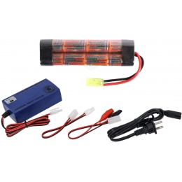 VB-Power 9.6V 1600mAh NiMH Mini Type Battery w/ Smart Charger