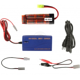 Tenergy 8.4V 1600mAh NiMH Mini-Type Battery + Smart Charger