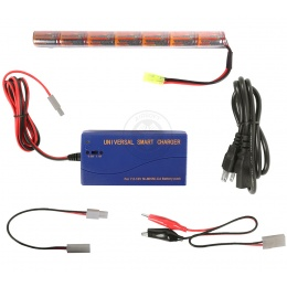 VB-Power 8.4V 1600mAh NiMH Stick-Type Battery + Smart Charger
