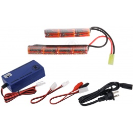 VB-Power 8.4V 1600mAh NiMH Nunchuck Type Battery w/ Smart Charger