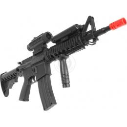 WellFire M4 RIS Airsoft AEG Rifle w/ Flashlight + Foregrip