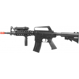 WellFire Airsoft M4 RIS Spring Rifle w/ Tactical Accessories