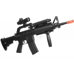 WellFire M4 RIS Spring Airsoft Rifle w/ Red Dot and Flashlight