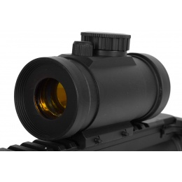 DE Airsoft Plastic Illuminated Red Dot Scope w/ Rail Mount