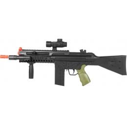 WellFire D33-Airsoft Spring Rifle w/ Flashlight + Scope + Foregrip