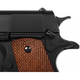 WellFire Airsoft M1911-A1 Heavyweight Airsoft Pistol w/ Railed Frame