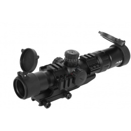 AIM Sports Airsoft 1.5-4 X 30 Dual Illuminated Scope w/ External Rails