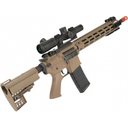 King Arms Ultra Grade II Polymer M4 TWS Airsoft AEG with M-LOK Handguard (Length: Rifle / Desert)