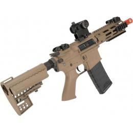 King Arms Ultra Grade II Polymer M4 TWS Airsoft AEG with M-LOK Handguard (Length: CQB / Desert)