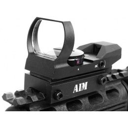 AIM Sports WARFARE Edition Dual Illuminated Panoramic Airsoft Red Dot