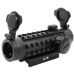 AIM Sports 1x25 Dual Illuminated Red & Green Dot Scope w/ Integrated Rails