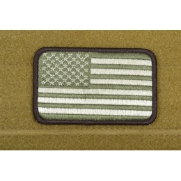 AMS American Flag Patch - OD Green - Premium Hi-Fidelity Patch Series