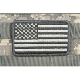 AMS American Flag Patch - ACU/ GRAY - Premium Hi-Fidelity Patch Series