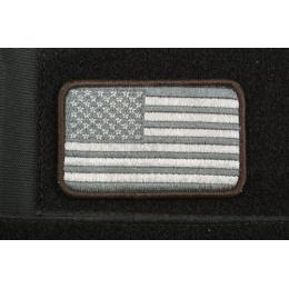 AMS American Flag Patch - BLACK/ SWAT - Premium Hi-Fidelity Series