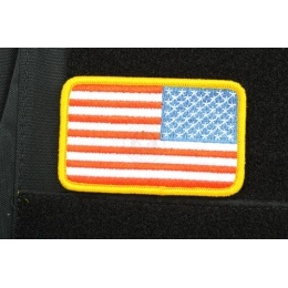AMS Reverse American Flag Patch - Full Color - Hi-Fidelity Series