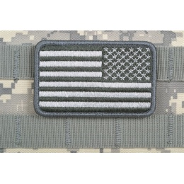 AMS Reverse American Flag Patch - GRAY/ACU - Hi-Fidelity Patch Series