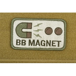 AMS Airsoft BB Magnet Patch - OD GREEN - Premium Hi-Fidelity Series