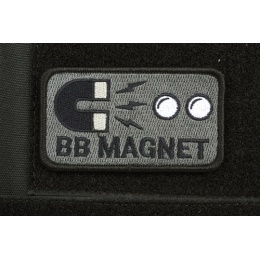 AMS Airsoft Premium BB Magnet Patch - BLACK/ SWAT