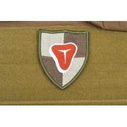AMS Airsoft Meat Shield Patch - OD GREEN - Premium Hi-Fidelity Series