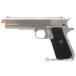 WE Tech M1911 Full Metal MEU Gas Blowback Airsoft Pistol - SILVER/BLACK