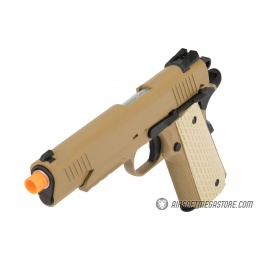 WE Tech Kimber Style 1911 Gas Blowback Airsoft Pistol - TAN