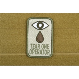 AMS Airsoft Premium Tear One Operator Patch - OD GREEN