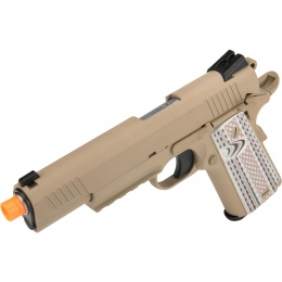 WE Tech Full Metal 1911 M45A1 Gas Blowback Airsoft Pistol - TAN