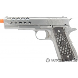 WE Tech 1911 Hex Cut Gen. 2 Gas Blowback Airsoft Pistol - SILVER