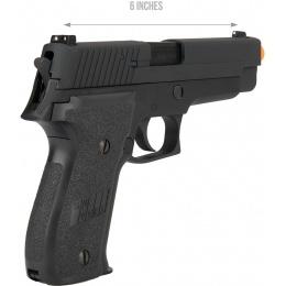 WE Tech F226 Gas Blowback Airsoft Pistol - BLACK