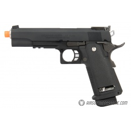 WE Tech Hi-Capa 5.1 M1911 R Version Gas Blowback Airsoft Pistol - BLACK