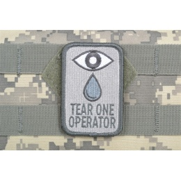 AMS Airsoft Tear One Operator Patch - ACU - Hi-Fidelity Patch Series