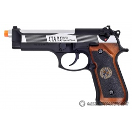 WE Tech RPD Biohazard Samurai Edge M92 GBB Airsoft Pistol - BLACK/SILVER