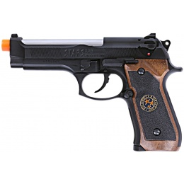 WE Tech RPD Biohazard Samurai Edge M92 GBB Airsoft Pistol - BLACK