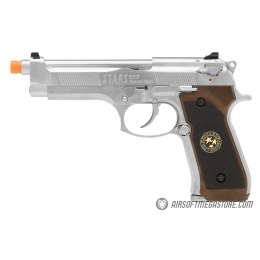 WE Tech RPD Biohazard Samurai Edge M92 GBB Pistol (Semi-Auto/Full-Auto) - SILVER