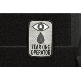 AMS Airsoft Tear One Operator Patch - BLACK - Hi-Fidelity Patch Series