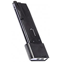 WE Tech Extended 30 Round Gas Magazine for WE M9 GBB Pistols - BLACK