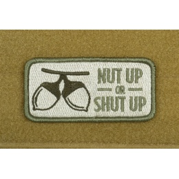 AMS Airsoft Premium Nut Up or Shut Up Patch - OD GREEN